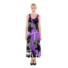 Purple Scene Kid Sleeveless Maxi Dress by ArtistRoseanneJones