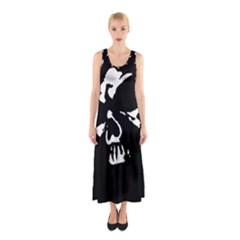 Gothic Skull Sleeveless Maxi Dress by ArtistRoseanneJones