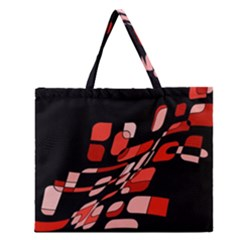Orange abstraction Zipper Large Tote Bag