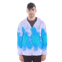 Blue And Purple Clouds Hooded Wind Breaker (Men) by TRENDYcouture
