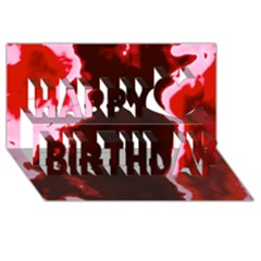 Crimson Sky Happy Birthday 3d Greeting Card (8x4)  by TRENDYcouture