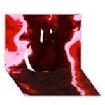 crimson sky Apple 3D Greeting Card (7x5)