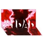 crimson sky #1 DAD 3D Greeting Card (8x4)