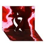 crimson sky Ribbon 3D Greeting Card (7x5)