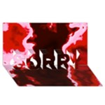 crimson sky SORRY 3D Greeting Card (8x4)