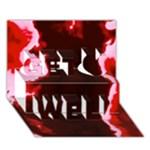 crimson sky Get Well 3D Greeting Card (7x5)