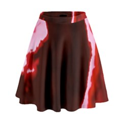 crimson sky High Waist Skirt by TRENDYcouture