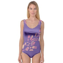Purple abstraction Princess Tank Leotard  by Valentinaart