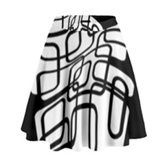White abstraction High Waist Skirt by Valentinaart