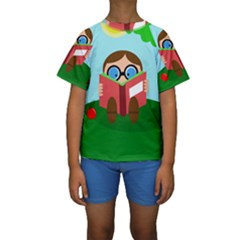 Brainiac Kid s Short Sleeve Swimwear by Valentinaart