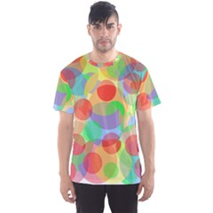 Colorful Circles Men s Sport Mesh Tee by Valentinaart