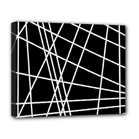Black And White Simple Design Deluxe Canvas 20  X 16   by Valentinaart