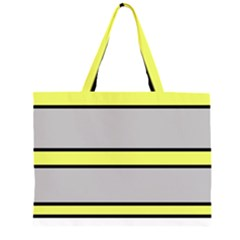 Yellow and gray lines Large Tote Bag by Valentinaart