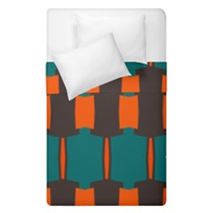 3 Colors Shapes Pattern                                                                                   Duvet Cover (single Size) by LalyLauraFLM