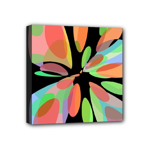 Colorful abstract flower Mini Canvas 4  x 4