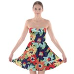 Alexa Floral Strapless Bra Top Dress