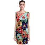 Alexa Floral Classic Sleeveless Midi Dress