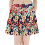 Alexa Floral Pleated Mini Mesh Skirt(P209)