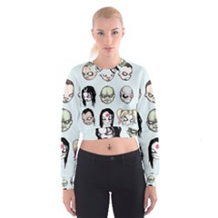 Worst Heroes Ever Women s Cropped Sweatshirt by lvbart