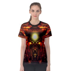 mind Chamber  By Spaced Painter Women s Sport Mesh Tee by SpacedPainterArt