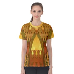 """Arabian Delights"" by Spaced Painter Women s Cotton Tee by SpacedPainterArt"