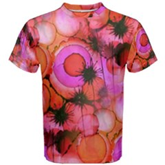 Palm Trees on Sunset Stains Men s Cotton Tee by KirstenStar