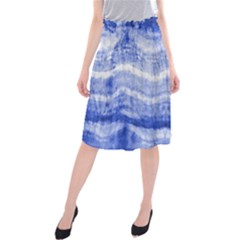 Tie Dye Indigo Midi Beach Skirt by olgart