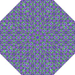 Pretty Purple Flowers Pattern Straight Umbrellas by BrightVibesDesign