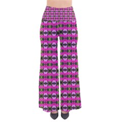 Pretty Pink Flower Pattern Pants by BrightVibesDesign