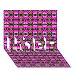 Pretty Pink Flower Pattern Hope 3d Greeting Card (7x5)  by BrightVibesDesign