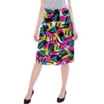 Kate Tribal Abstract Midi Beach Skirt