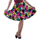 Kate Tribal Abstract A-line Skater Skirt