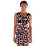 Kate Tribal Abstract Wrap Front Bodycon Dress