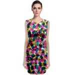 Kate Tribal Abstract Classic Sleeveless Midi Dress