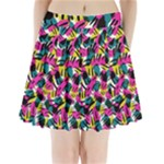 Kate Tribal Abstract Pleated Mini Mesh Skirt(P209)