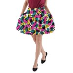 Kate Tribal Abstract A-Line Pocket Skirt