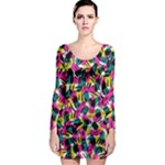 Kate Tribal Abstract Long Sleeve Bodycon Dress