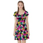Kate Tribal Abstract Short Sleeve Skater Dress