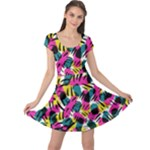 Kate Tribal Abstract Cap Sleeve Dress