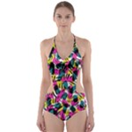 Kate Tribal Abstract Cut-Out One Piece Swimsuit