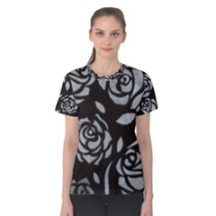 black flower Women s Cotton Tee by Contest2348538