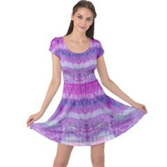 Tie Dye Color Cap Sleeve Dresses by olgart