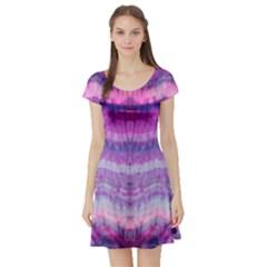 Tie Dye Color Short Sleeve Skater Dress by olgart