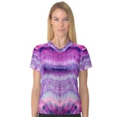 Tie Dye Color Women s V-Neck Sport Mesh Tee by olgart