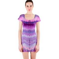 Tie Dye Color Short Sleeve Bodycon Dress by olgart