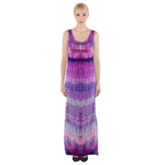 Tie Dye Color Maxi Thigh Split Dress by olgart