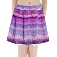 Tie Dye Color Pleated Mini Mesh Skirt(P209) by olgart