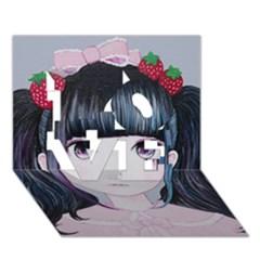 Nakayoshi Strawberry Love 3d Greeting Card (7x5)  by kaoruhasegawa
