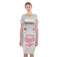 Gamegirl Girl Play With Star Classic Short Sleeve Midi Dress