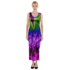 Amazing Special Fractal 25c Fitted Maxi Dress by Fractalworld